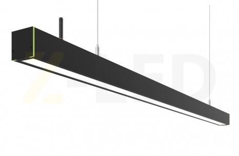 Диммируемый линейный светодиодный светильник Z-LED 70Вт черный (1416x42x43)