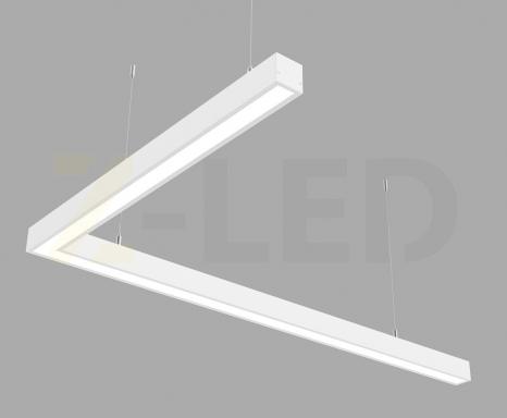 Светодиодный светильник  Z-LED 80ВТ L-образный белый (1000х600) LSNL-80w