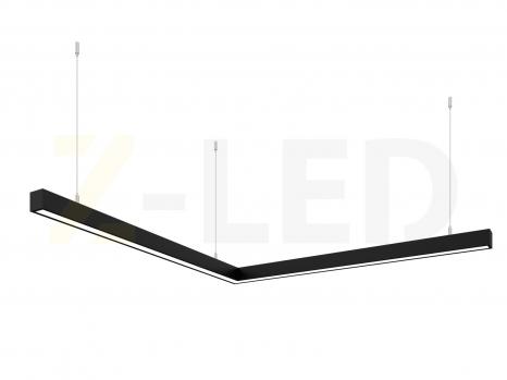 Светодиодный светильник  Z-LED 80ВТ угол черный (800х800) LSNU-80b