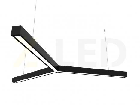 Светодиодный светильник  Z-LED 90ВТ Y-образный черный (3x600) LSNY-90b